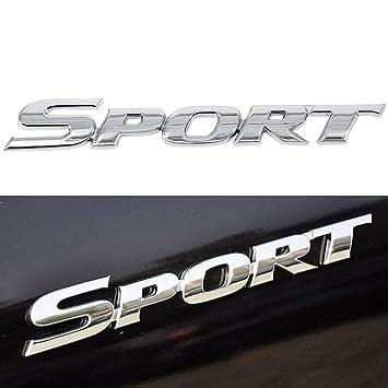 Sports Silver Sticker Auto Car 3D Logo Decal Metal Emblem Badge Universal Brand