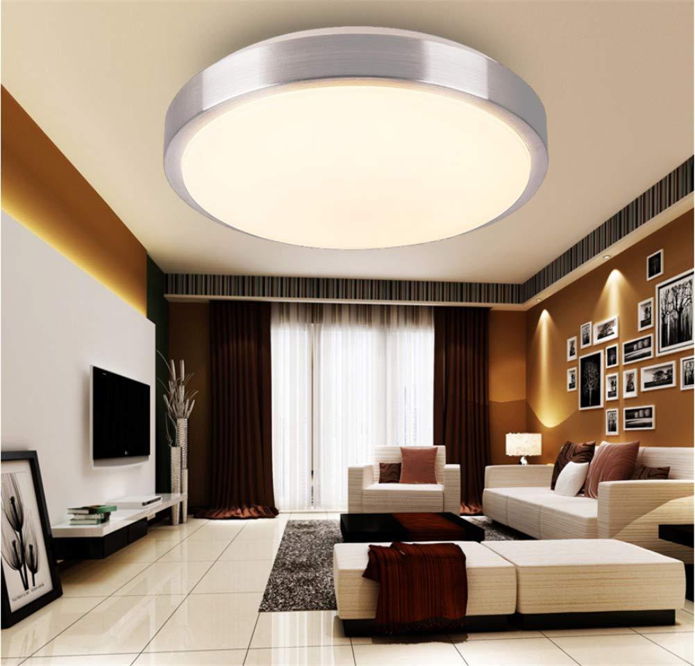 OOFAY LED-Deckenleuchte Stufenlos Dimmen Modernen Minimalistischen Minimalistischen Minimalistischen Aluminium Runden Wohnzimmer Balkon Küche Mode Beleuchtung Weiß,Doublelayer50cm 224809