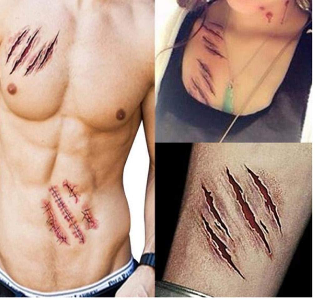 PiniceCore 5 Piezas de Halloween del Zombi Cicatrices Tatuajes ...