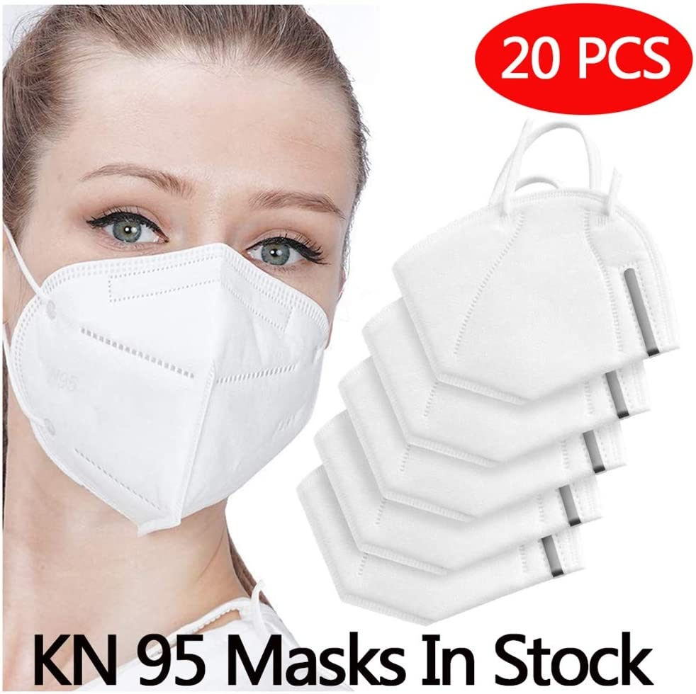 Sport Face Mask with Filter Activated Carbon PM 2.5 Anti-Pollution Running Cycling Mask, 20 PCS