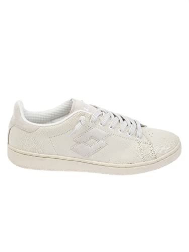 LOTTO HOMME T0810WHITE BLANC CUIR BASKETS N7Ku6