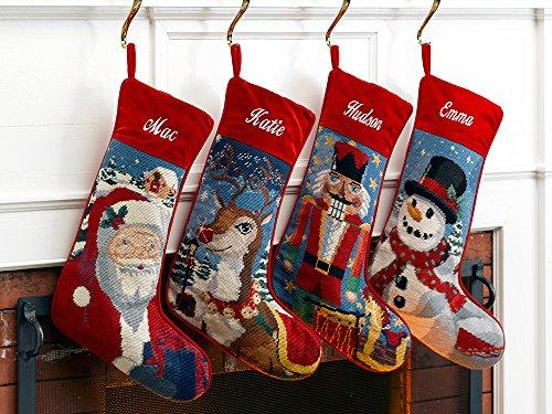 Amazon.com: Needlepoint Christmas Stocking: Santa: Home & Kitchen