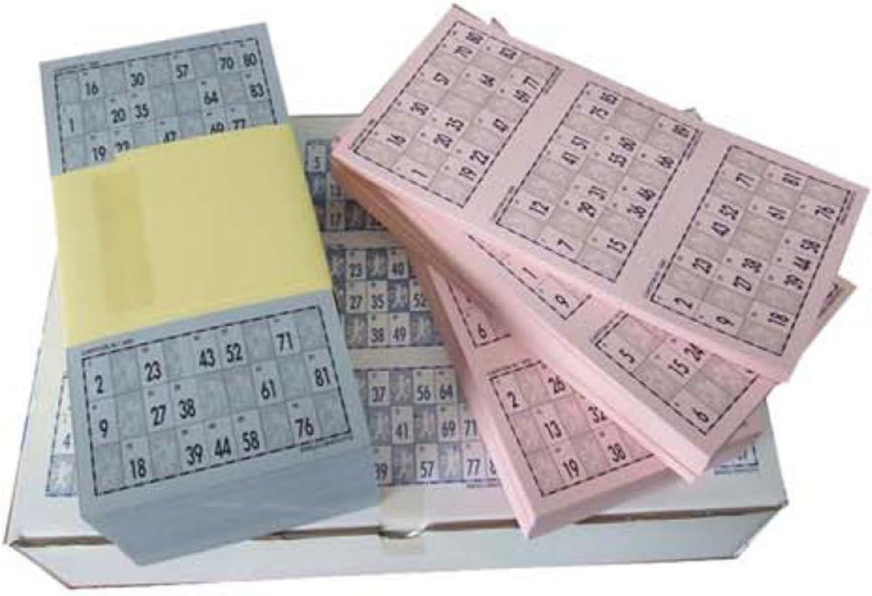 Cartones de Bingo troquelados para bingos de 90 bolas: Amazon.es: Juguetes y juegos