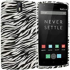 Accessory Planet(TM) Black White Zebra TPU Design Soft Rubber Case Cover Accessory for OnePlus One