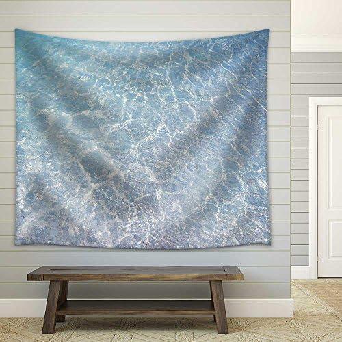 Clear Blue Ripple Aqua Texture Fabric Wall