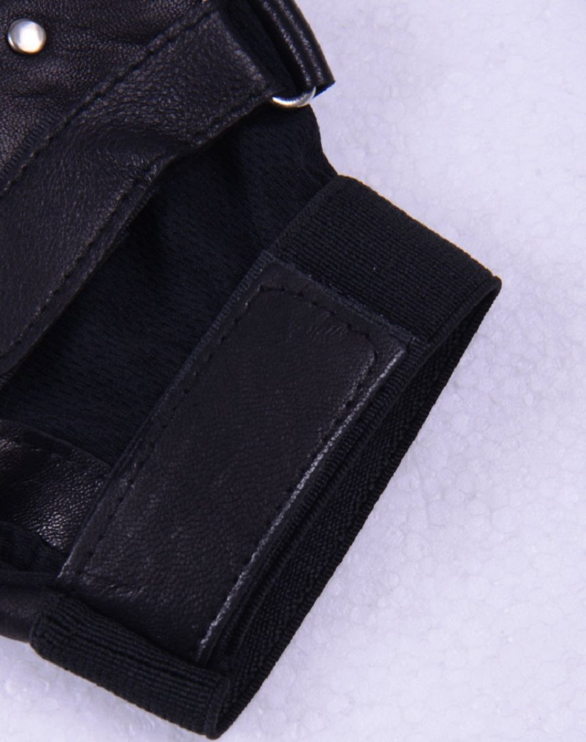 Shensee Boy Male Soft PU Leather Driving Motorcycle Biker Fingerless Warm Gloves by Shensee (Image #4)
