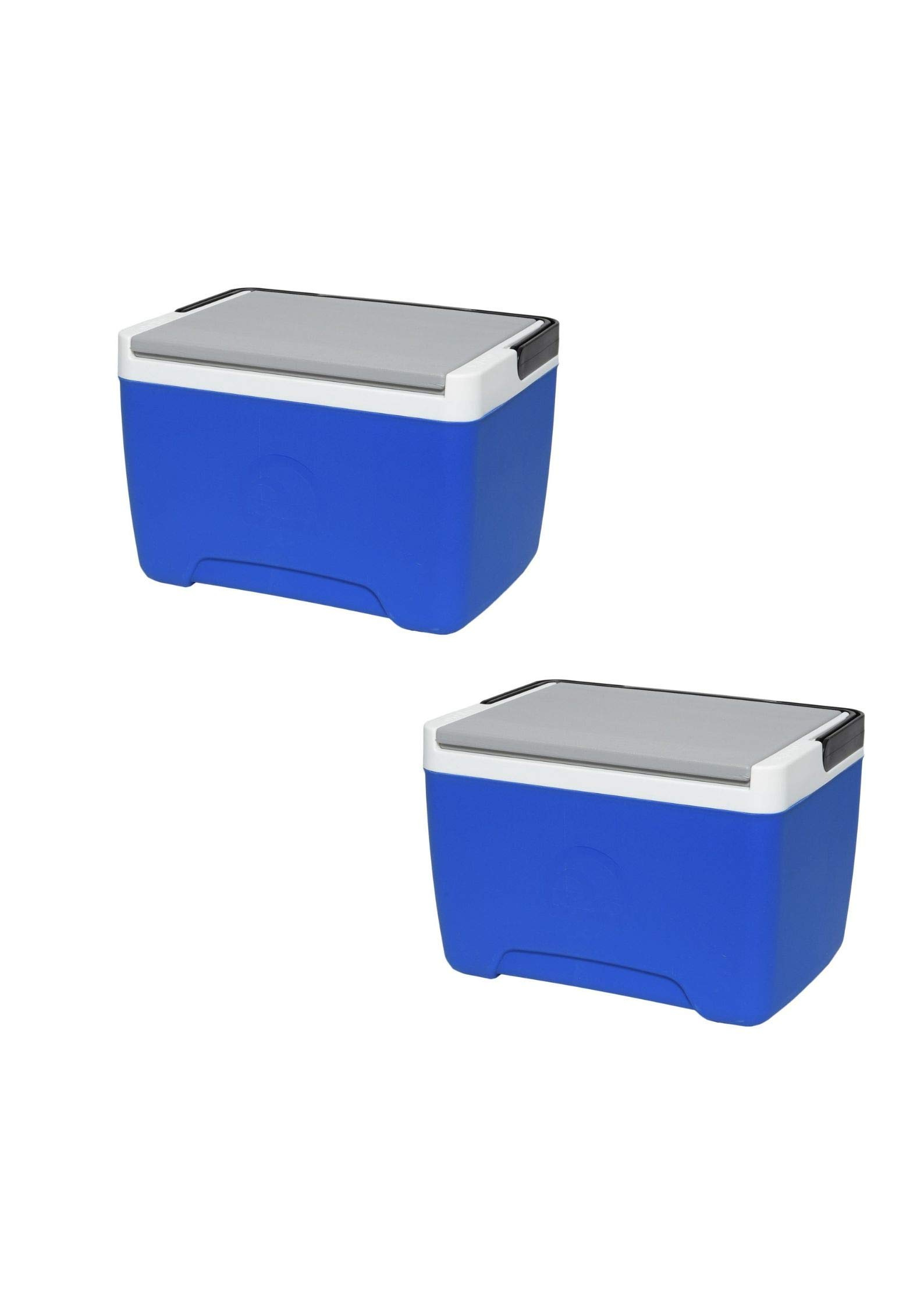 Igloo Island Breeze 9-Quart Cooler (2 Pack,Majestic Blue/Ash Gray/Black)