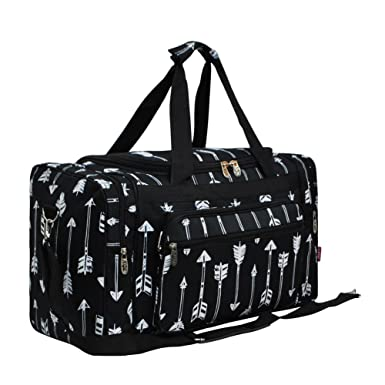 56701099b4 Arrow Print NGIL Carry on Shoulder 20 quot  Duffle Bag (Arrow-Black)