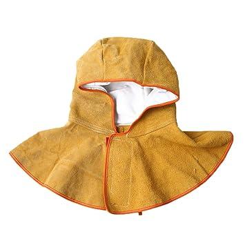 LAIABOR Casco De Soldadura Sombrero Capuchón De Cuero Completo Casquillo De Soldadura Máscara De Soldadura Campana Soldadora Protectora: Amazon.es: Deportes ...