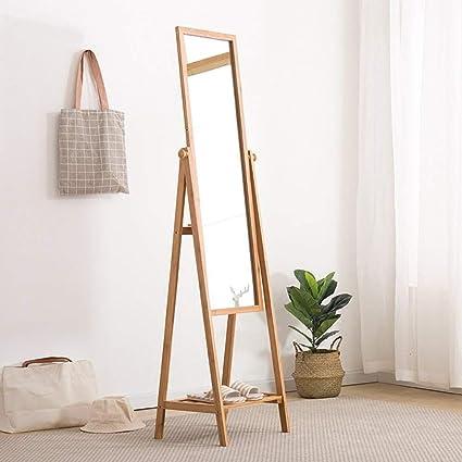Amazon.com: PLLP Coat Racks Clothes Stand Full-Length Mirror ...