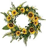 "Sullivan's 22"" Large Artificial Sunflower Wreath"