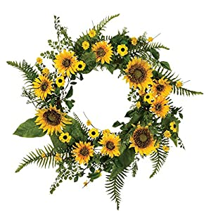 "Sullivan's 22"" Large Artificial Sunflower Wreath 7"