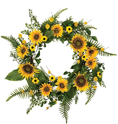 Sunflowers and Ferns Wreath