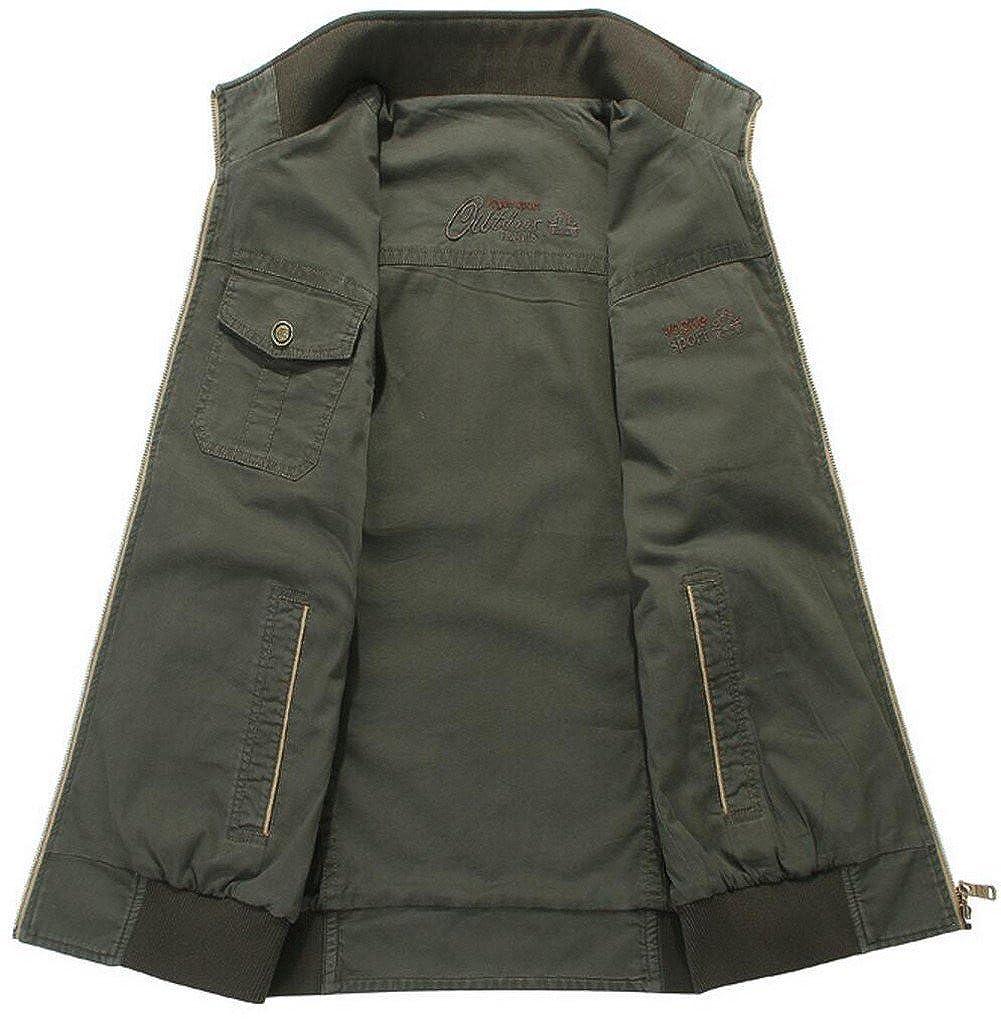 JIINN Herren Outdoor Sport Weste Baumwolle Angelweste Militär Stil Stil Stil Jacke mit Vielen Taschen Jagd Camping Men's Fishing Vest Casual Waistcoat B07D56F68D Jacken Großhandel a9677f