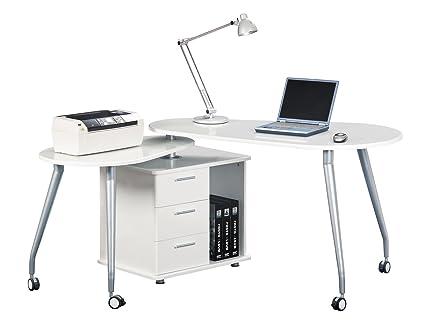 Cool Techni Mobili Modern Rotating Computer Desk With Storage Interior Design Ideas Clesiryabchikinfo