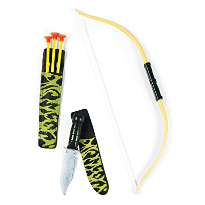 "Fun Express Children's Play Bow & Arrow & Knife Set (6 Sets) Outdoor Play, Set=Bow 18 1/2"" x 4 1/4""; Three Arrows 10 1/4""; Arrow Holder 9 1/2""; Knife 7 1/4""; Knife Holder 8"".: Toys & Games"