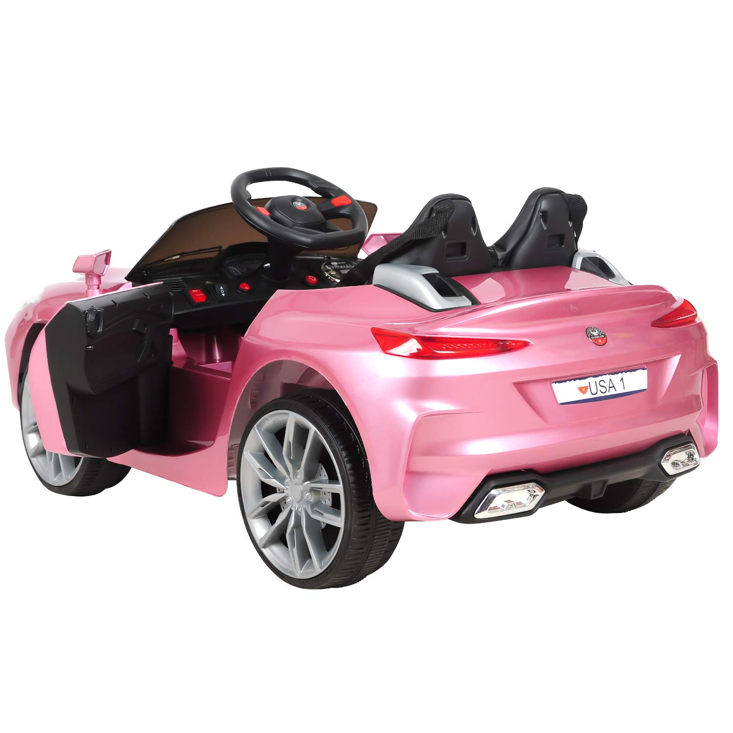HikeGeek 12V Kids Ride On Car 3 Speeds AUX Electric RC Ride On ...