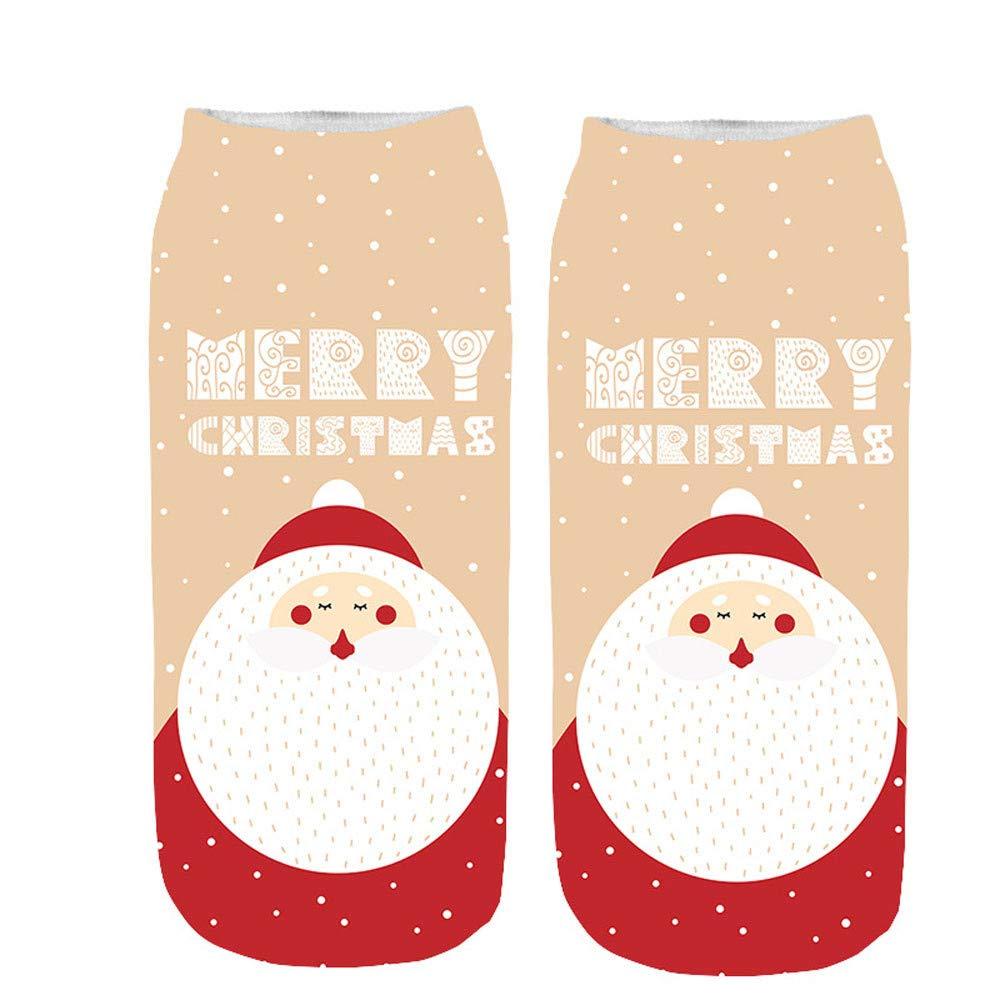 Hot Sale!Socks For Women Funny,Unisex Christmas Funny 3D Printed Socks Cute Low Cut Ankle Socks,