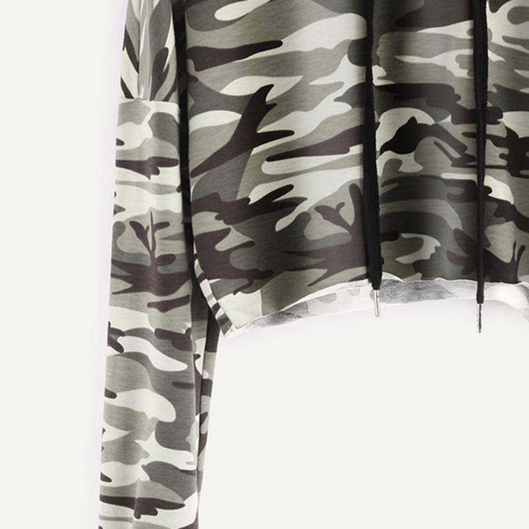 Amazon.com: OWMEOT Women Hoodies-Tops- Camouflage Printed Long Sleeve Pocket Drawstring Sweatshirt Pocket: Clothing
