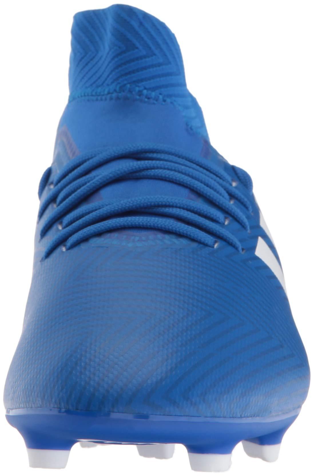 adidas Unisex Nemeziz 18.3 Firm Ground Soccer Shoe, White/Football Blue, 3.5 M US Big Kid by adidas (Image #4)