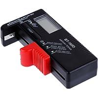 Anpro Testeur de Piles UniverselAAA AA Batterie Testeur de 1.5V 9V,Bouton Testeur Numérique Affichage Digital Pas Besoin de L'alimenter par Pile Dédiée,S'auto Alimente Avec Pile/Batterie En Test