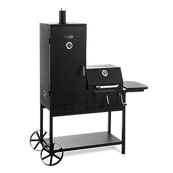 Klarstein Fleischbrocken Barbacoa de carbón con Ahumador (combinación parrilla y horno ahumador, carro con