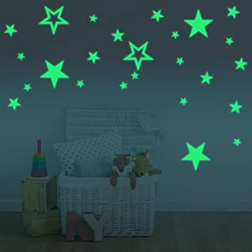Amaonm Glow In The Dark Stars Wall Decals Removable Vinyl Luminous Star  Wall Stickers Murals Home