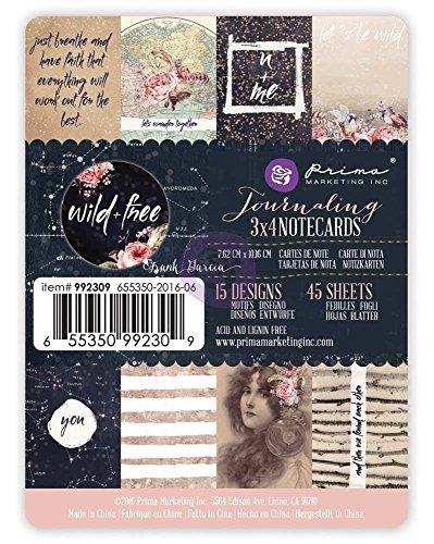 - Prima Marketing 3x4 journaling Cards - Wild & Free Art