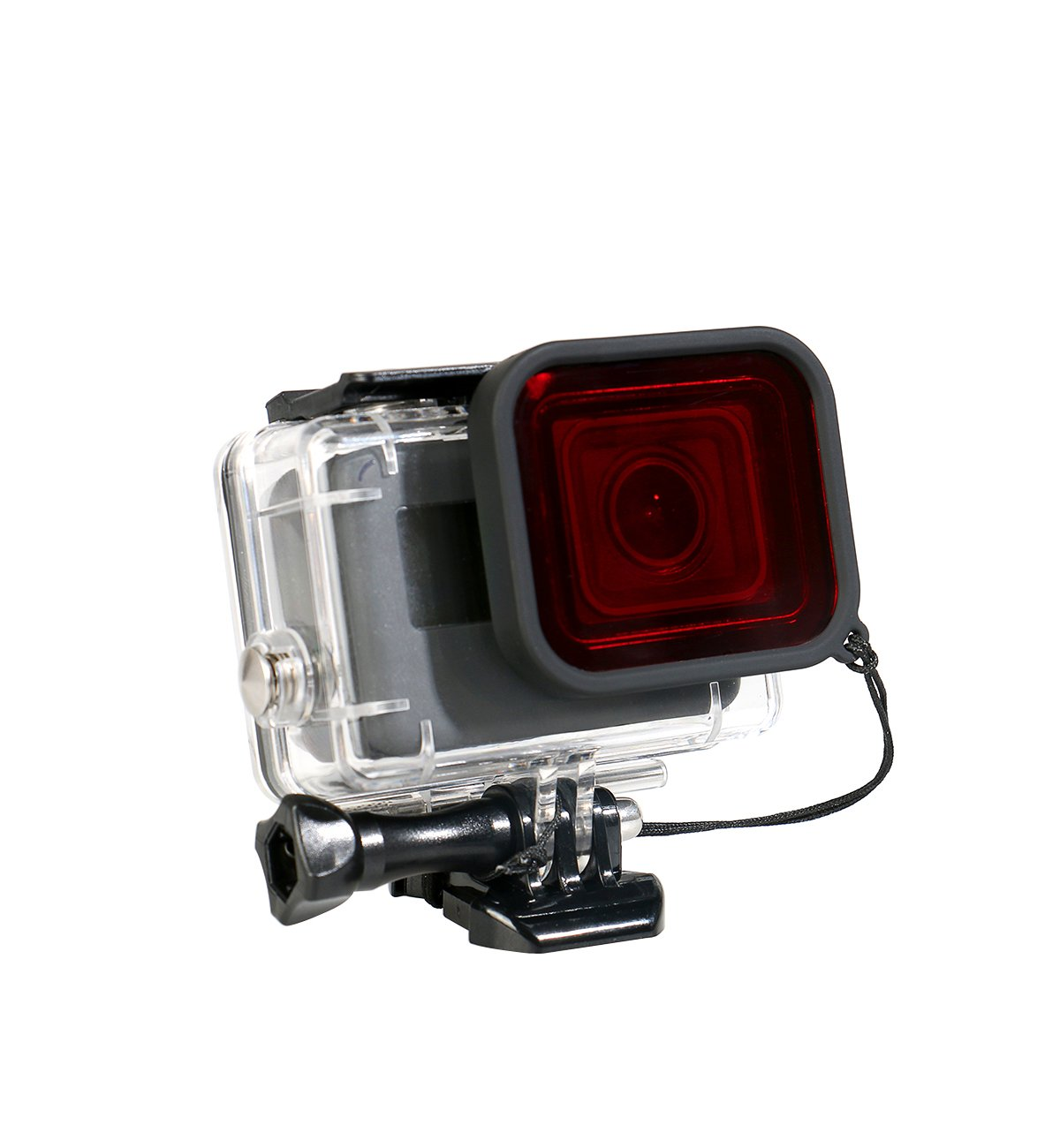 CEARI 45M Underwater Waterproof Diving Housing Protective Case Cover with Red Filter for Gopro Hero 5 Action Camera, Black