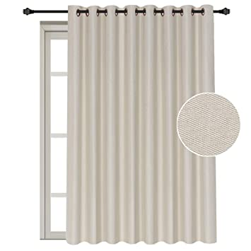 Amazoncom Patio Sliding Glass Door Curtain Wide Width Room