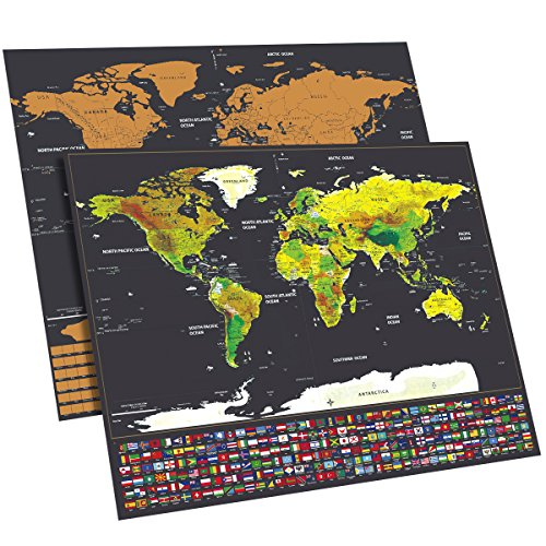 Scratch off map of the world with us states and country flags gumiabroncs Images