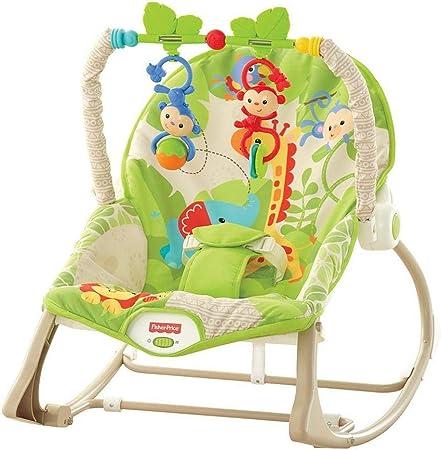 La hamaca de bebé se convierte en un balancín cuando el niño crece y después en una silla fija para
