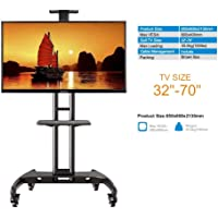Gadget-Wagon 32-70 Inches LED LCD TV Wheel Stand for Presentations, Portable, Home