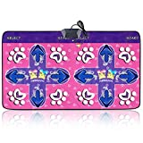 Owmoon Dance Pad, Non-slip Dancing Step Durable Dual Dance Mat Dancing Step Blanket for PC with USB
