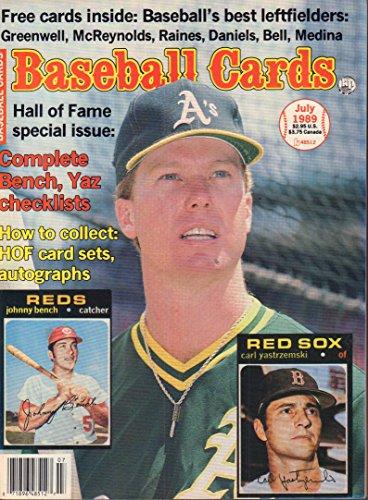 Baseball Cards July 1989 Johnny Bench, Carl Yastrzmeski - 1989 Bench Johnny