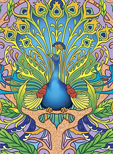 Art Nouveau Peacock Notebook