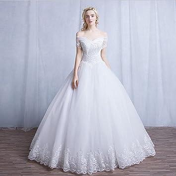 AN Correas de hombro palabra simple grandes yardas novia Qi para salir vestido de novia coreano
