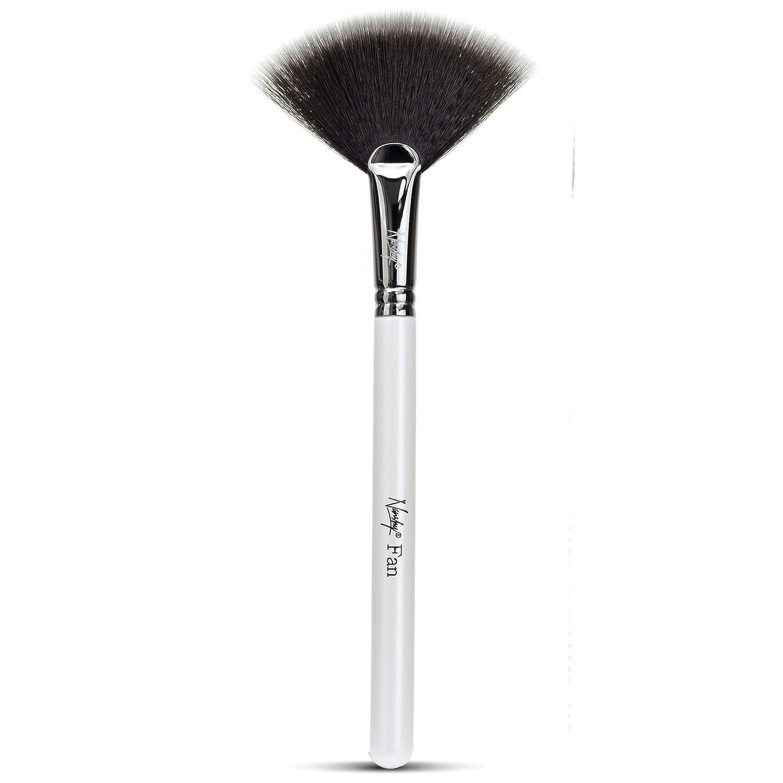 Nanshy Fan Makeup Brush Highlight Contour Bonzer Blush Powder Application (Pearlescent White) by Nanshy
