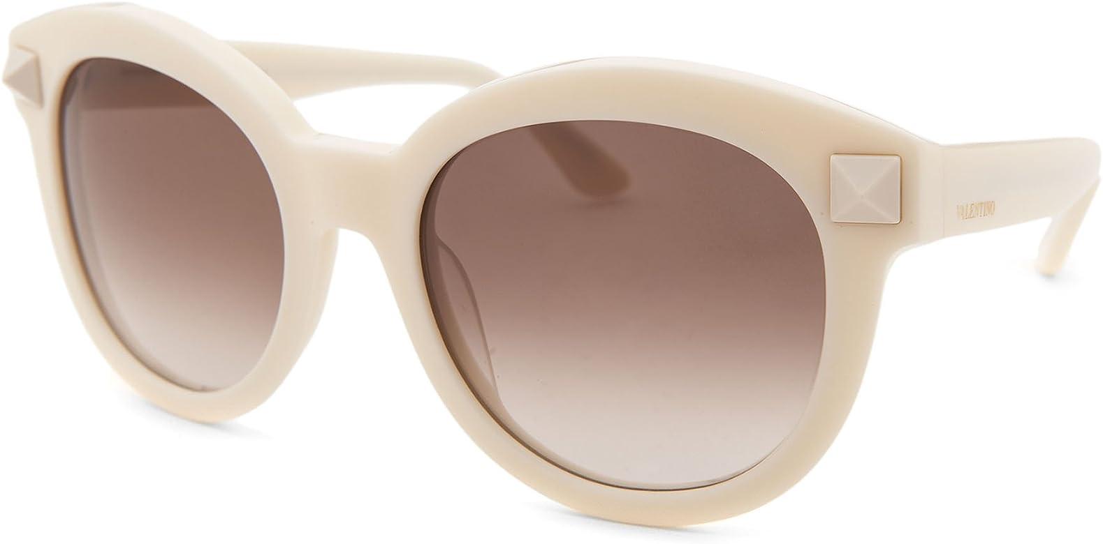 Amazon.com: anteojos de sol VALENTINO V 684 S 103 Marfil ...