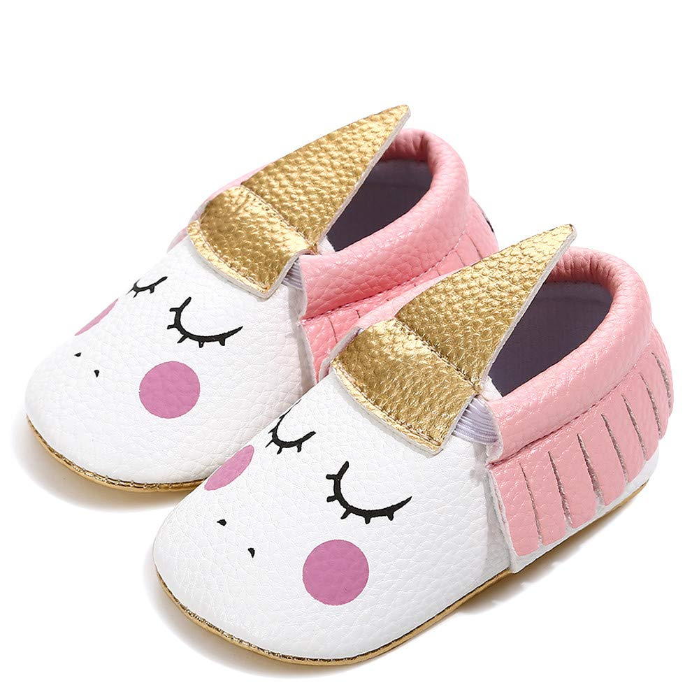 Chaussures b/éb/é Bambin /à Franges Respirant Wear-Resistant Soft Tissu Sole BZLine 0-18mois Licorne Mignonne
