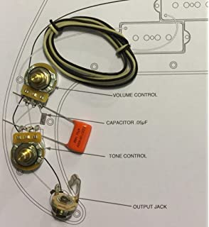 taot wiring kit - fender precision bass p-bass - orange drop cap