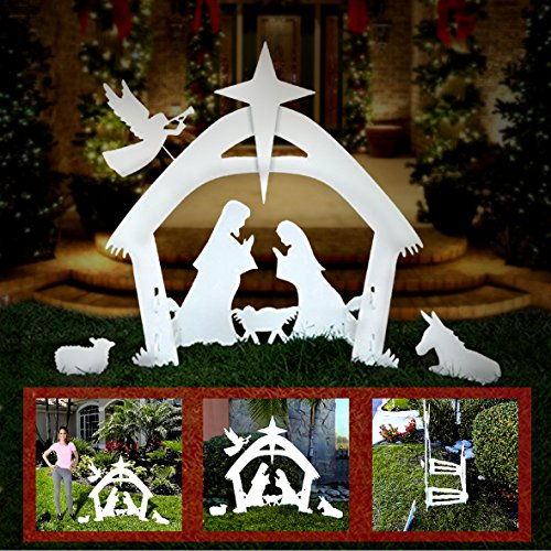 Nativity Scene Outdoor Christmas Decoration: EasyGo Large Outdoor Nativity Scene