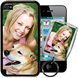 Apple iPhone 4 / 4S PixCase® - Picture Frame Case - DIY personalized - Insert photos, change anytime or create custom inserts at PersonalizeItYourself - Shock absorbing TPU edges, clear scratch resistant picture window ++ Bonus Photo Keychain ++