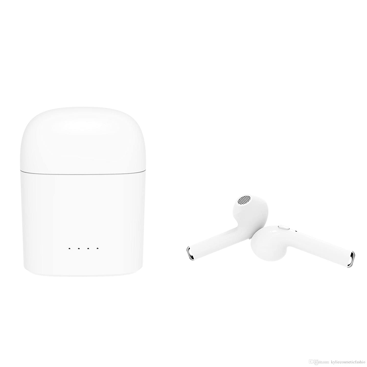 Auriculares Inalámbricos In-Ear, Estuche de Carga, Bluetooth V4.2, Manos Libres con Micrófono, Compatible con iPhone y Android, Color Blanco: Amazon.es: ...