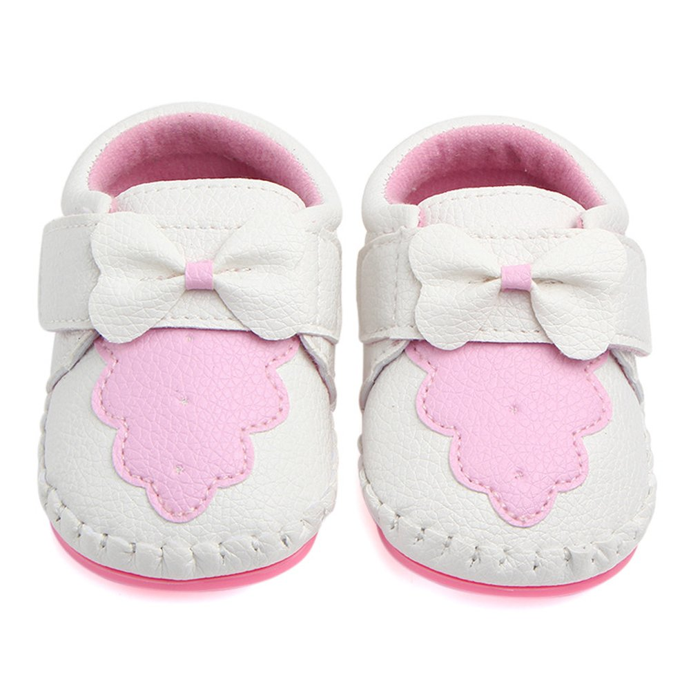 0-6 Months, Pink//White Annnowl Baby Girls Shoes Soft Rubber Sole Sneakers 0-18 Months