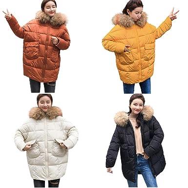 DICPOLIA Women Winter Casual Long Coats Thicker Down Jacket Coat Hooded Outwear (M, Black