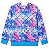 Blue Mermaid Hoodie for Girls Sweatshirt Cotton Winter Fall Clothes Size 8 9