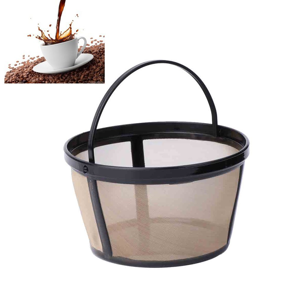 Guoyy Reusable 10-12 Cup Coffee Filter Basket-Style Permanent Metal Mesh Tool BPA Free