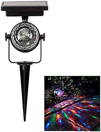 Aibao Luces Led Solares Para Exteriores Lámpara De Jardín Led Para Exteriores Lámpara De Jardín De Noche Lámpara De Césped Colorida Giratoria Luz Solar: Amazon.es: Iluminación
