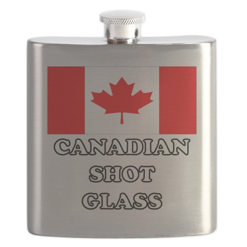 CafePress - Canadian Shot Glass - Stainless Steel Flask, 6oz Drinking Flask